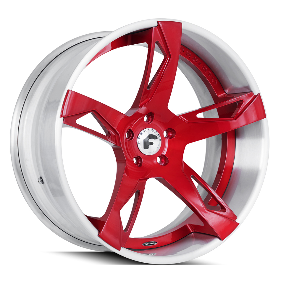 Forgiato Copiato-ECL Brushed and Red Finish Wheels