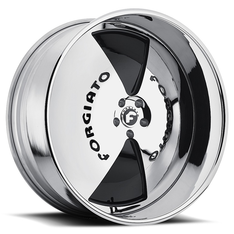 Forgiato Cupola-L Chrome and Black Center with Chrome Lip Finish Wheels