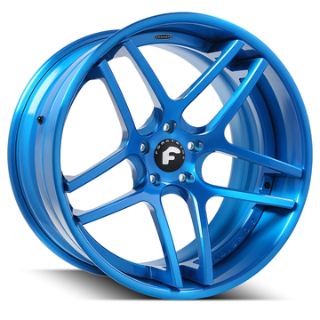 Forgiato Dieci-ECL Blue Finish Wheels