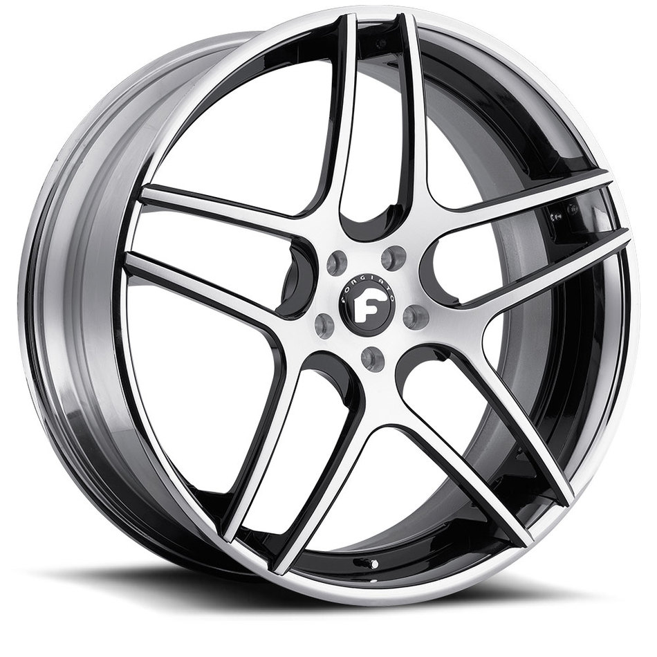 Forgiato Dieci-ECL Chrome and Black Center with Chrome Lip Finish Wheels