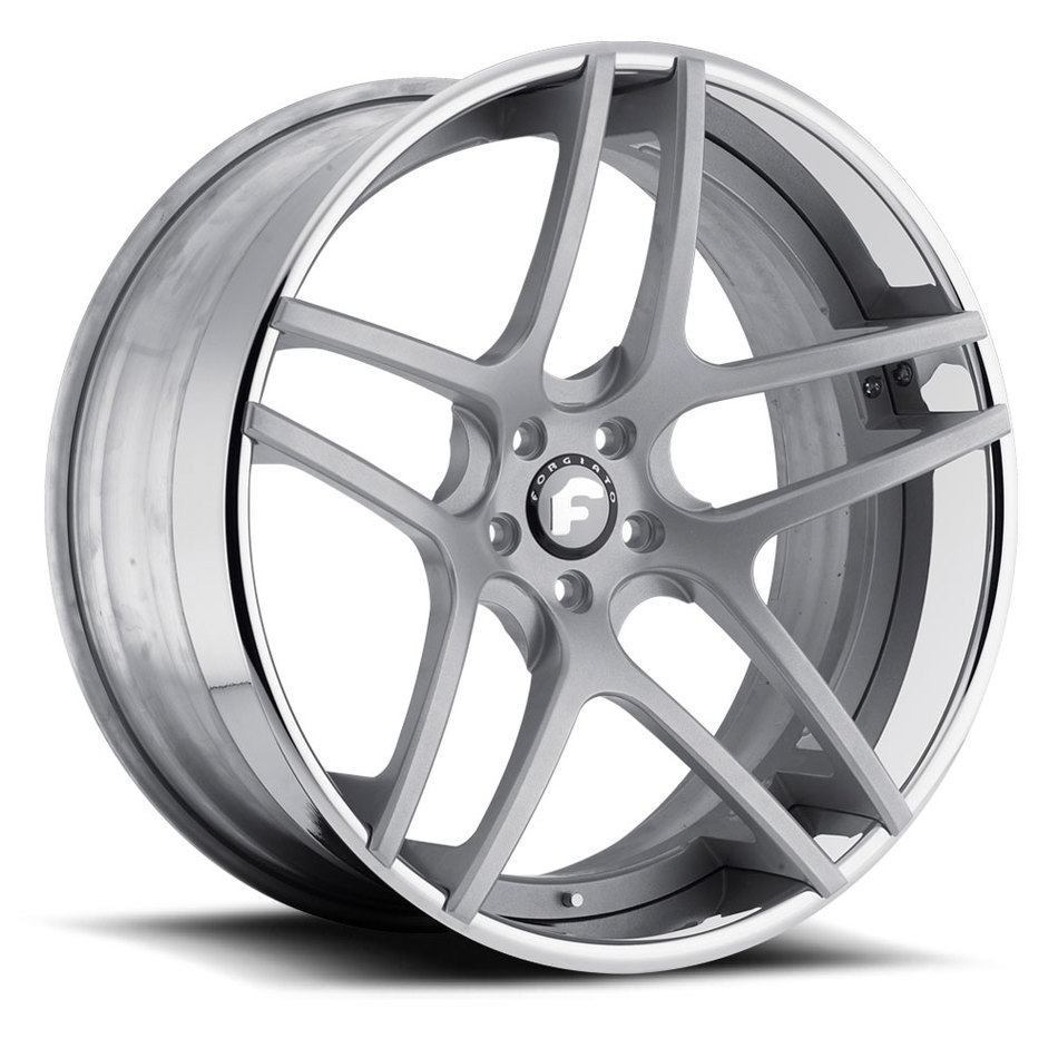 Forgiato Dieci-ECL Satin Center with Chrome Lip Finish Wheels
