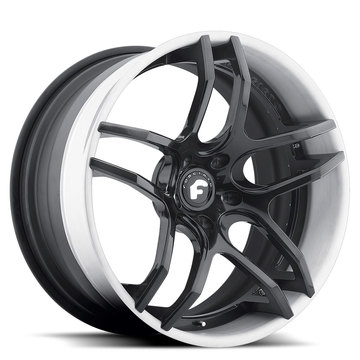 Forgiato Dieci-ECX Black Center with White Lip Finish Wheels