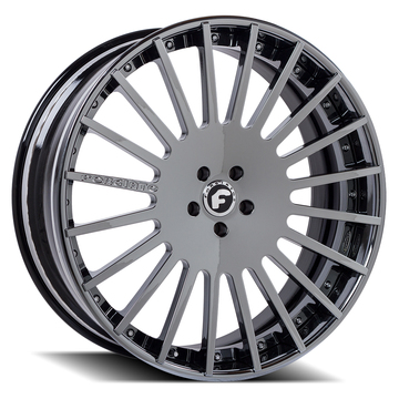 Forgiato Disegno-ECL Black Chrome Finish Wheels