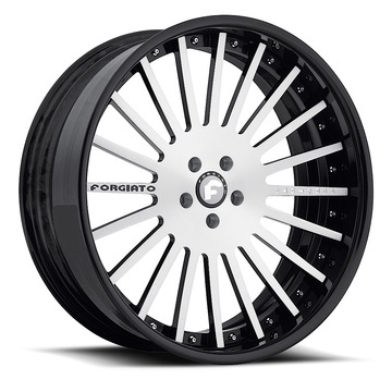 Forgiato Disegno Satin with Black Lip Finish Wheels