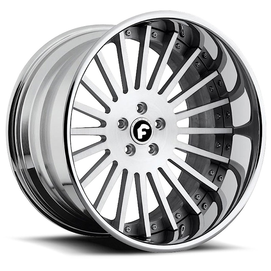 Forgiato Disegno Satin with Chrome Lip Finish Wheels