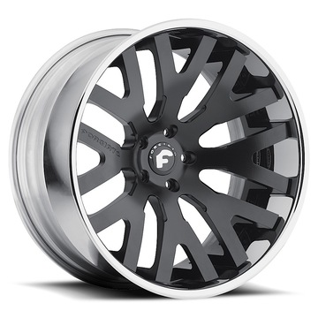Forgiato Dito-ECL Black Center with Chrome Lip Finish Wheels