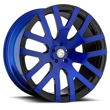 Forgiato Dito-M Blue and Black Finish Wheels