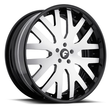 Forgiato Dito Satin Center with Black Lip Finish Wheels