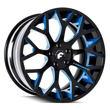 Forgiato Drea-ECL Blue and Black Finish Wheels