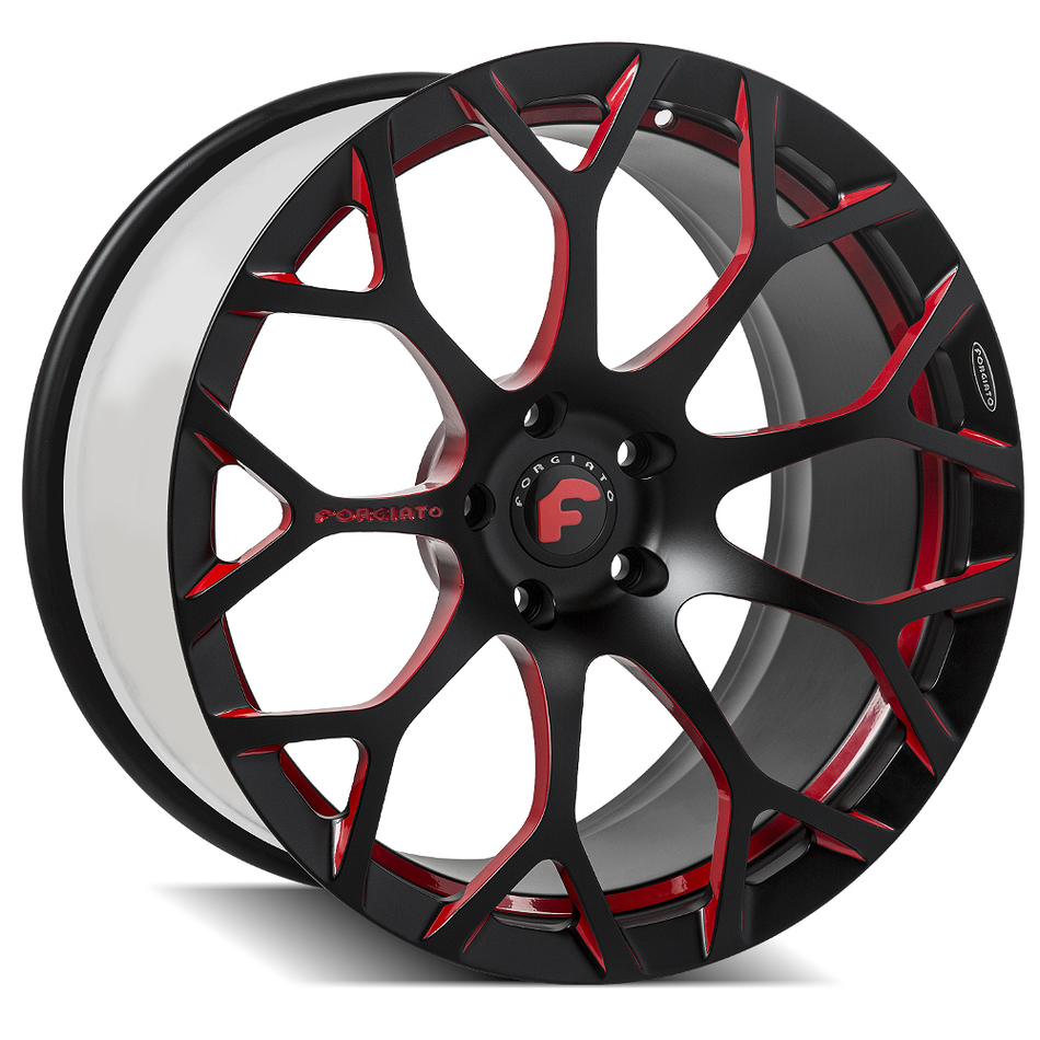 Forgiato Drea-M Black and Red Finish Wheels