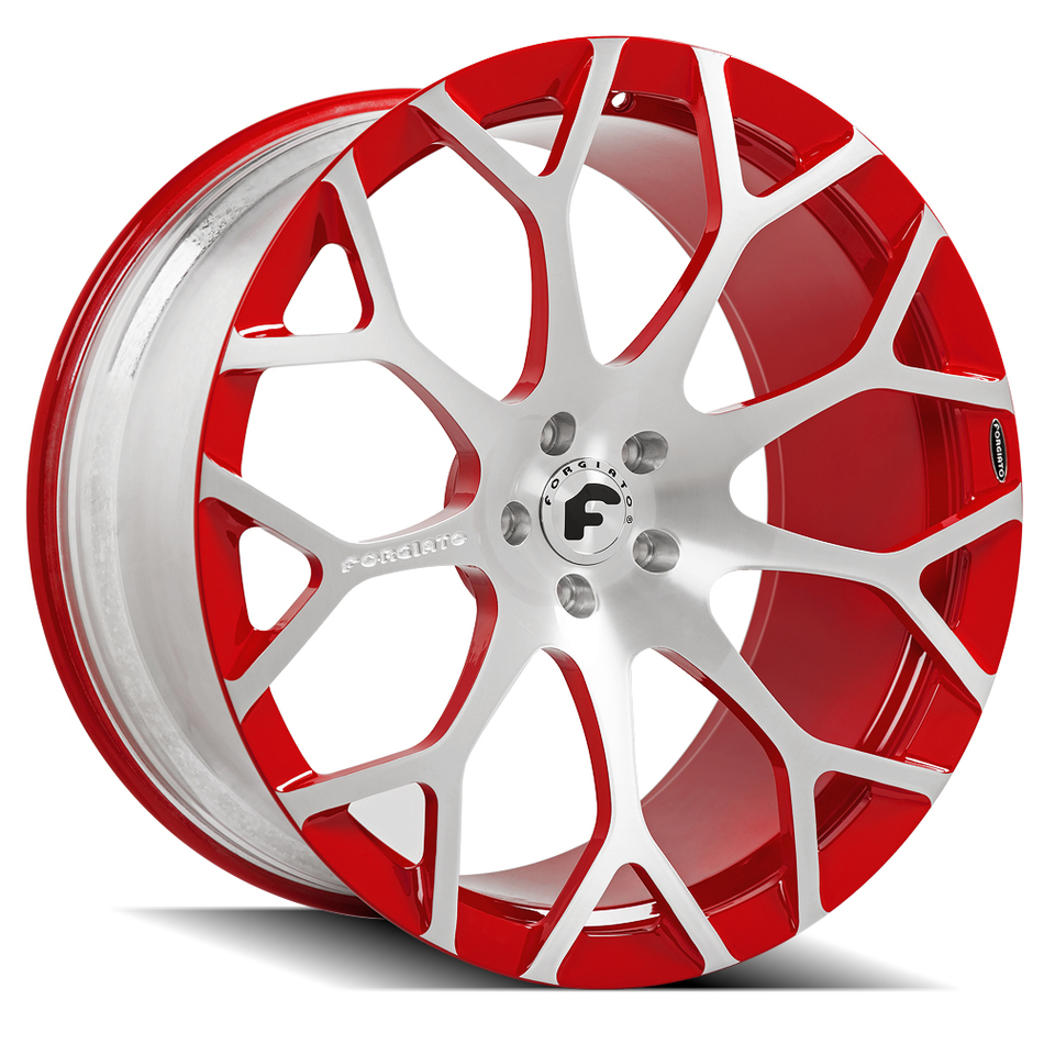 Forgiato Drea-M Wheels Satin and Red Finish