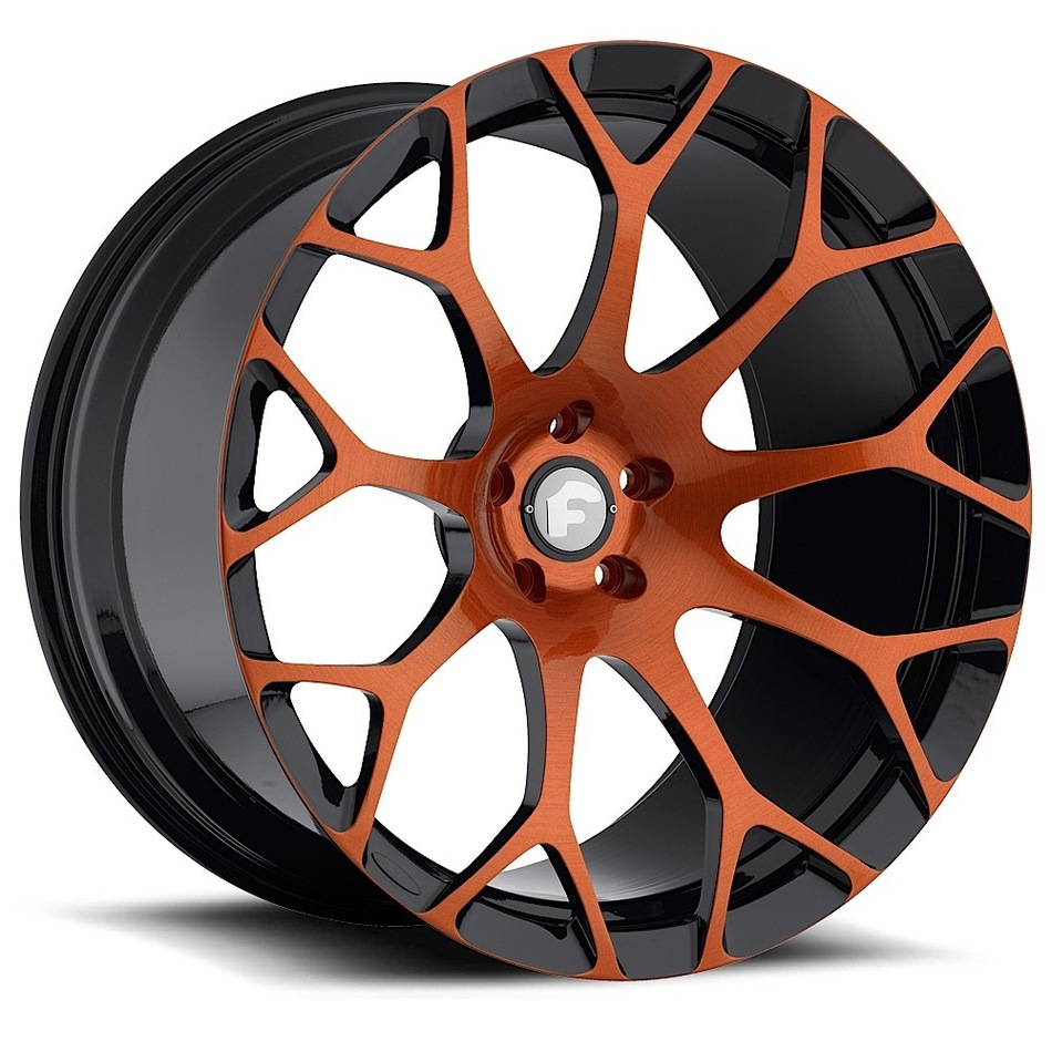 Forgiato Drea-M Orange and Black Finish Wheels