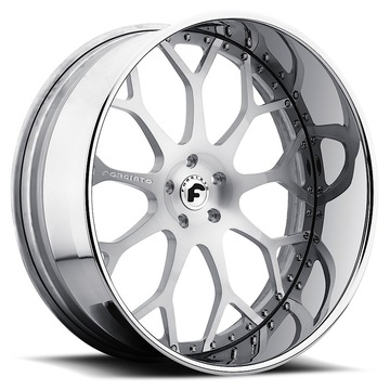 Forgiato Drea Sating Center with Chrome Lip Finish Wheels