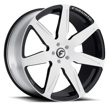 Forgiato Esporre-M Brushed and Black Finish Wheels