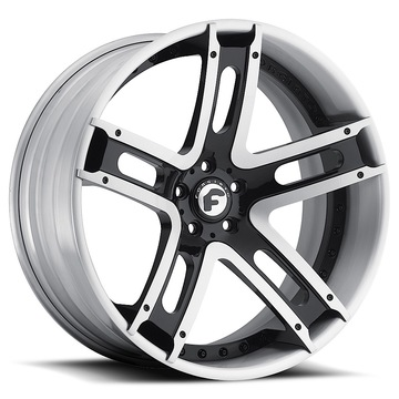 Forgiato Estremo-ECL Black and Satin Center with Satin Lip Finish Wheels