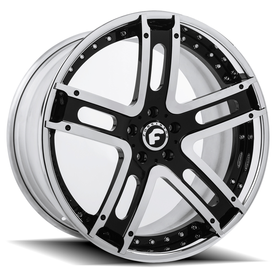 Forgiato Estremo-ECL Chrome and Black Center with Chrome Lip Finish Wheels