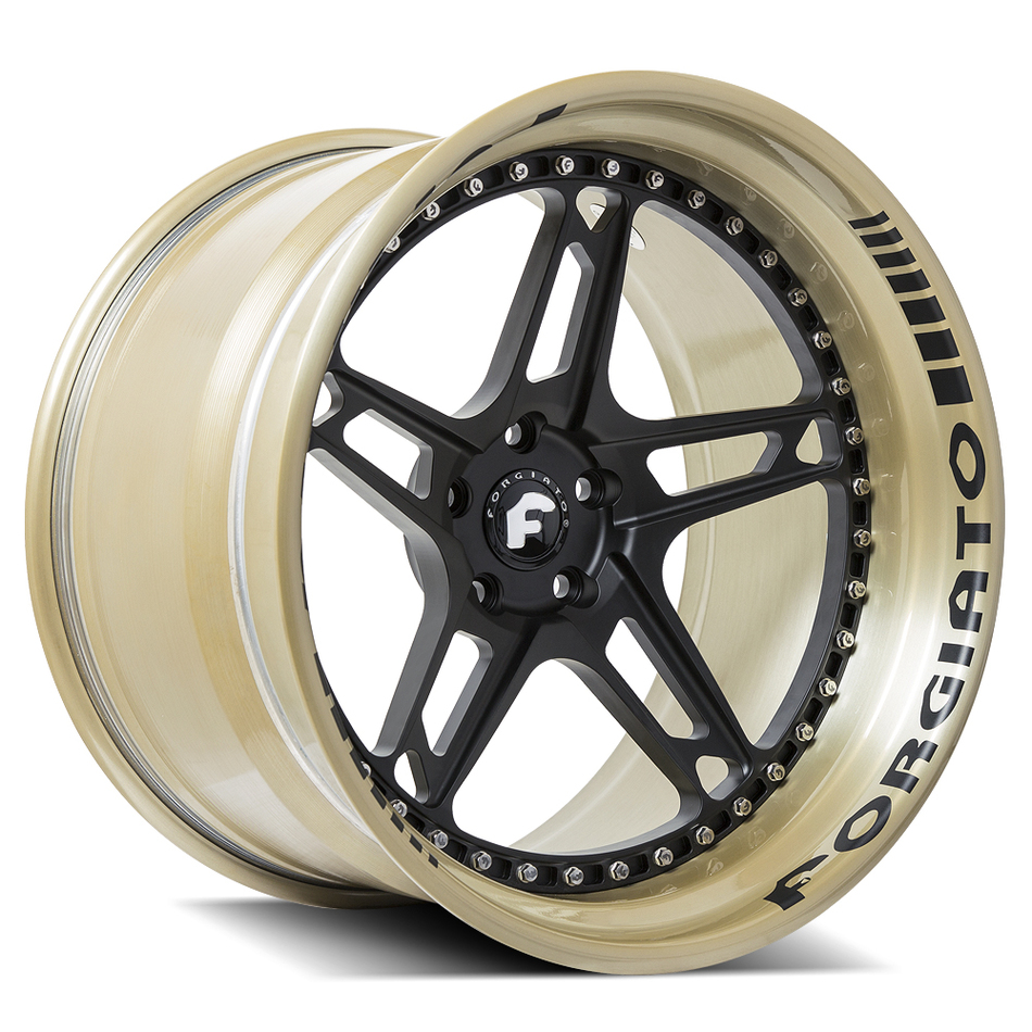 Forgiato F-430 Ghost Gold and Black Finish Wheels