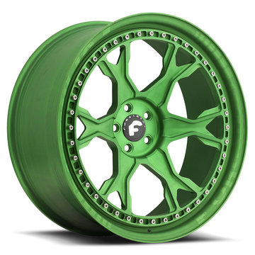 Forgiato F-Braccio Green Finish Wheels