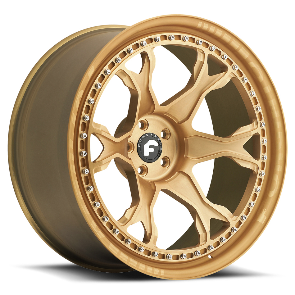 Forgiato F-Braccio Gold Finish Wheels