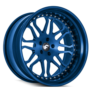 Forgiato F-Kato-1 Anodized Blue Finish Wheels
