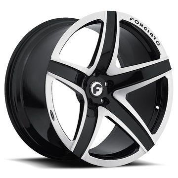 Forgiato F2-03-M Black and Satin Finish Wheels