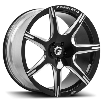 Forgiato F2-06-M Black and Brushed Finish Wheels