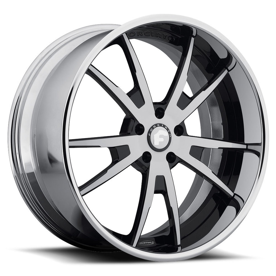 Forgiato F2.01-B Satin and Black Center with Chrome Lip Finish Wheels