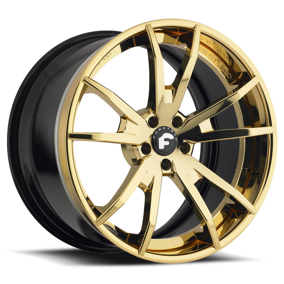 Forgiato F2.01 Gold Finish Wheels