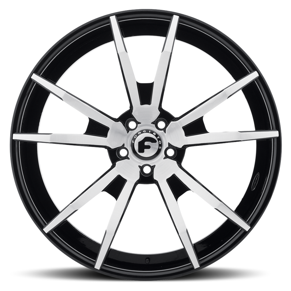 Forgiato F2.01 Satin and Black Center with Black Lip Finish Wheels