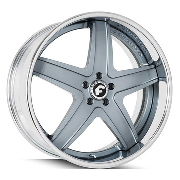 Forgiato F2.03-B Blue and Chrome Finish Wheels