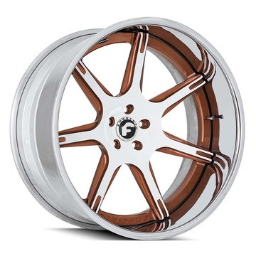 Forgiato F2.06-B White and Brown Finish Wheels