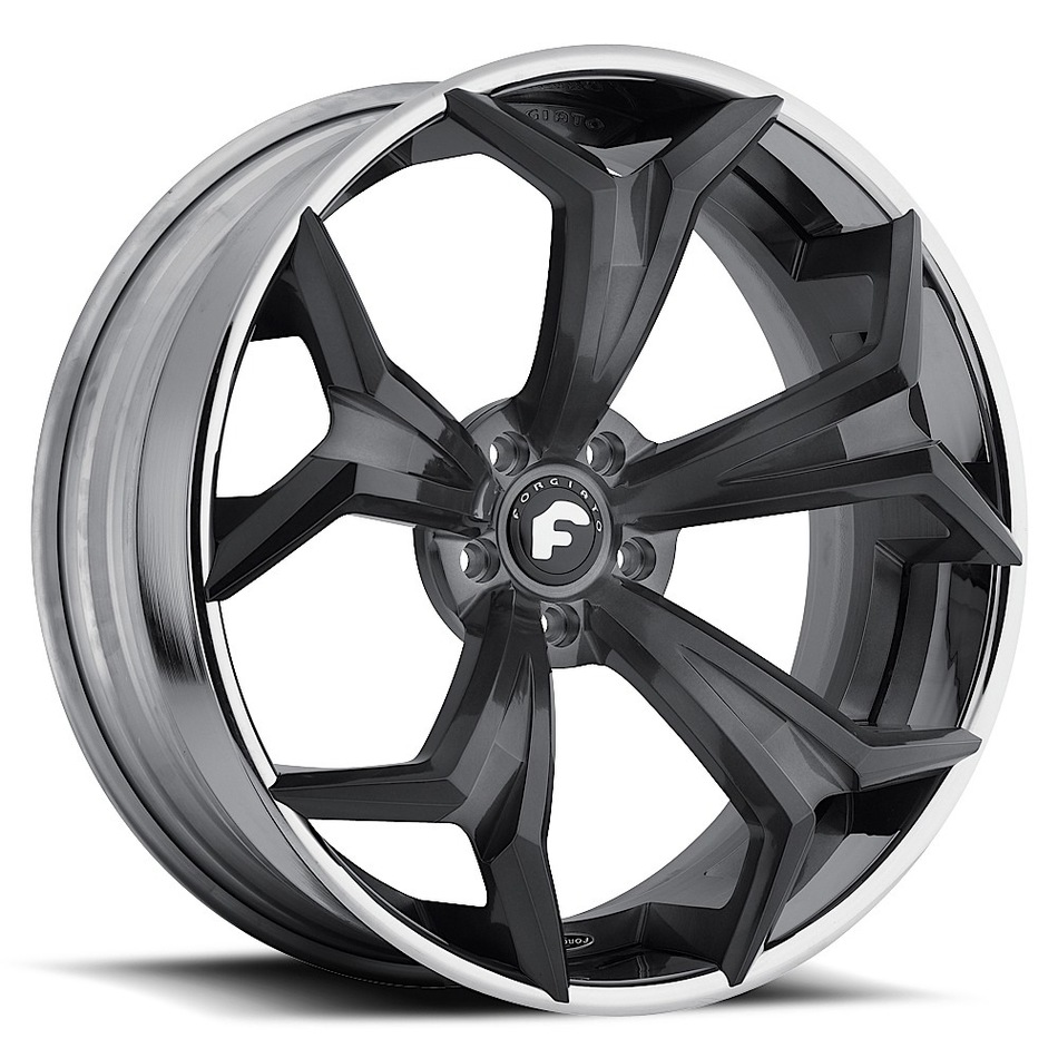 Forgiato F2.09 Black Center with Chrome Lip Finish Wheels