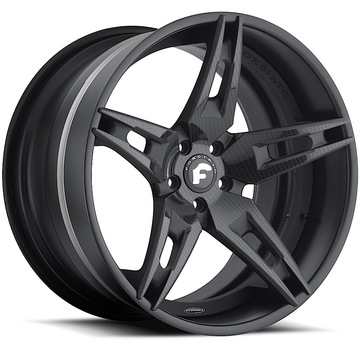 Forgiato F2.10 Carbon Center with Black Lip Finish Wheels