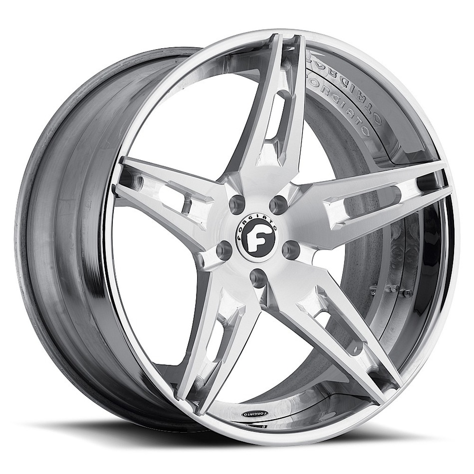 Forgiato F2.10 Satin Center with Chrome Lip Finish Wheels