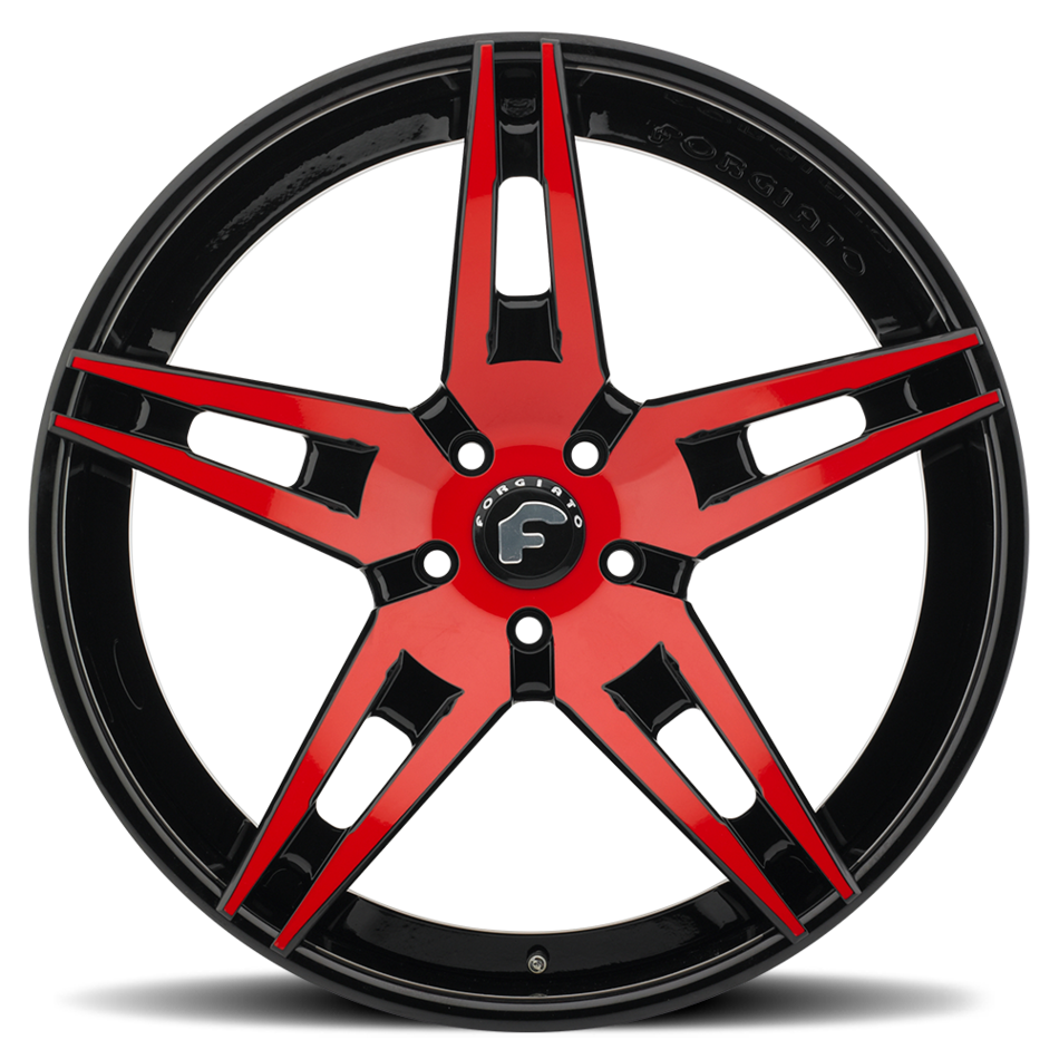 Forgiato F2.10 Red Center with Black Lip Finish Wheels