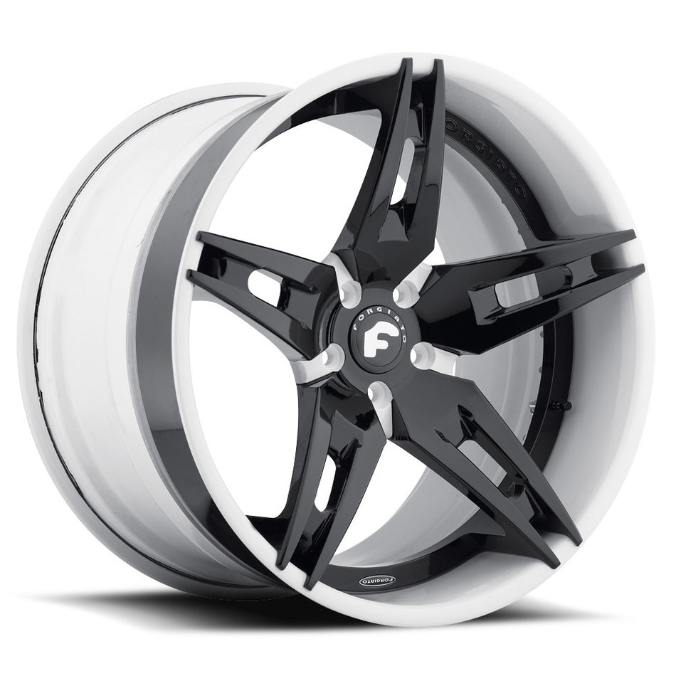 Forgiato F2.10 Black Center with White Lip Finish Wheels