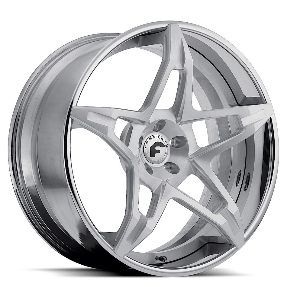 Forgiato F2.14 Satin Center with Chrome Lip Finish Wheels