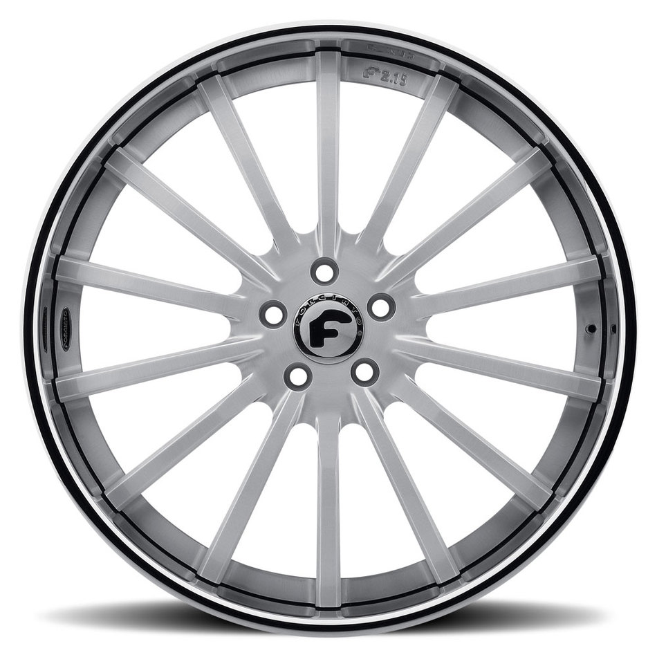 Forgiato F2.15-B Bushed Center with Chrome Lip Finish Wheels