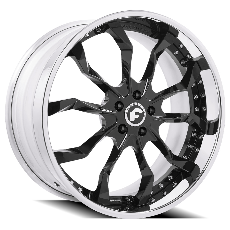 Forgiato F2.16-B Black Center with Chrome Lip Finish Wheels