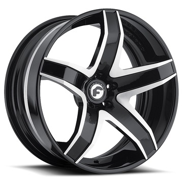 Forgiato F2.17 Black and Satin Center with Black Lip Finish Wheels