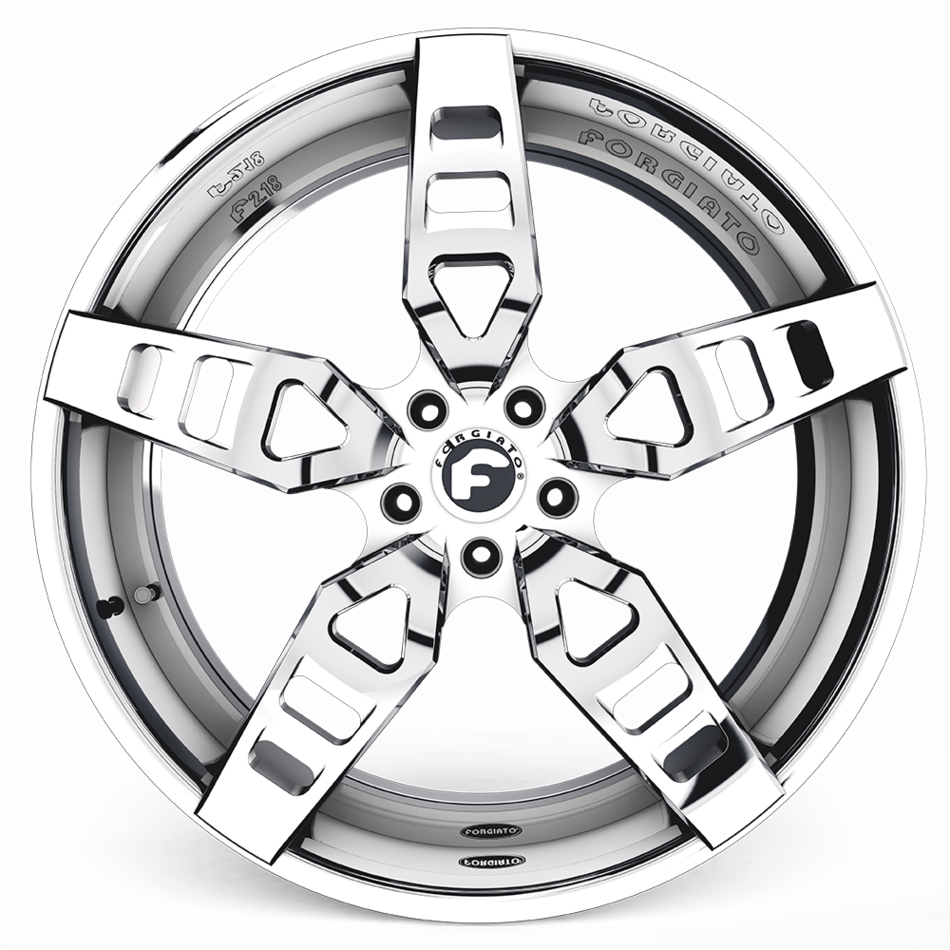 Forgiato F2.18-ECL Chrome Finish Wheels