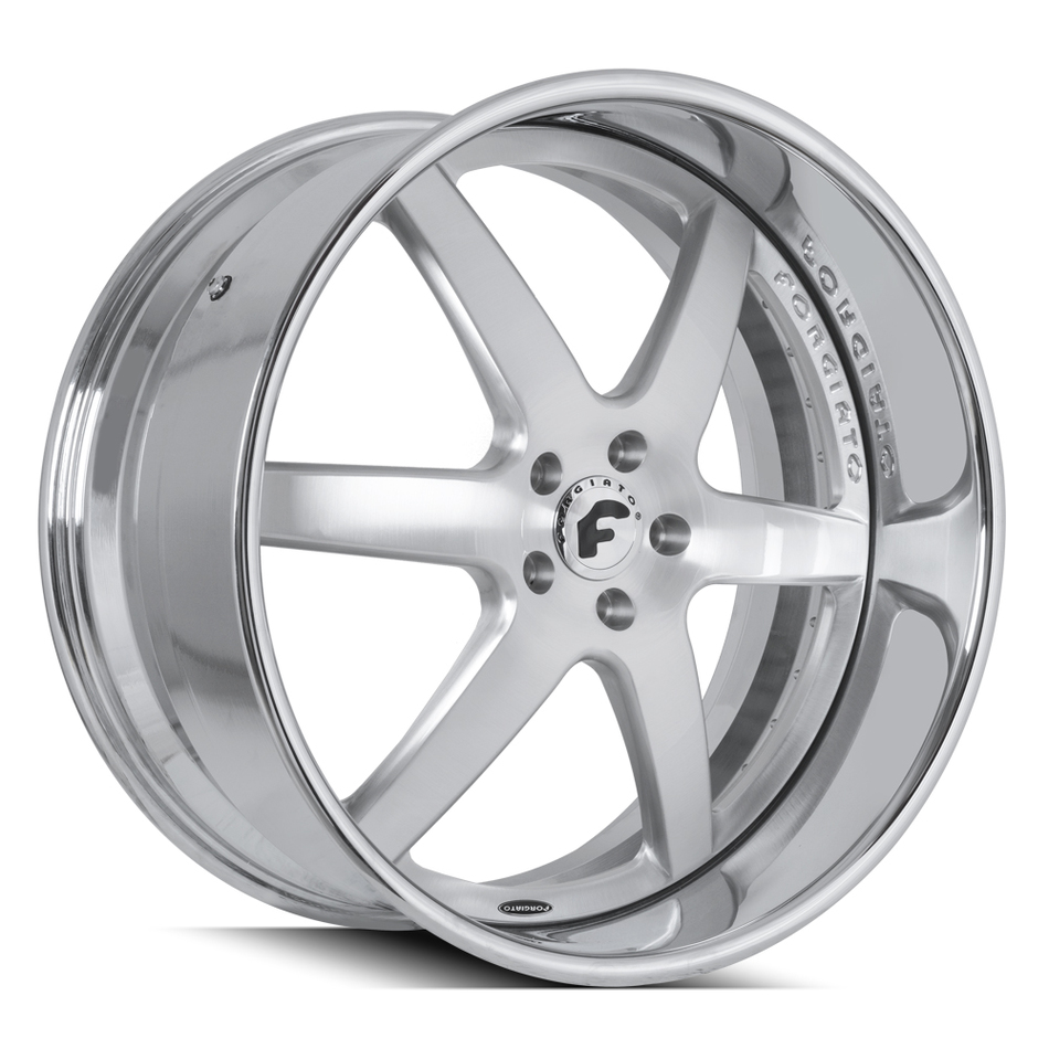 Forgiato F2.20-DL Brushed and Chrome Finish Wheels