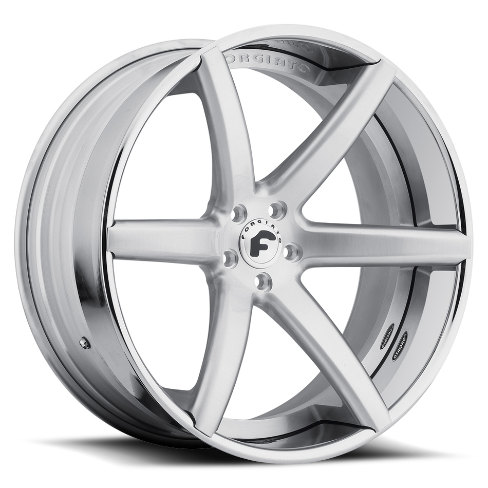 Forgiato F2.20 Satin Center with Chrome Lip Finish Wheels