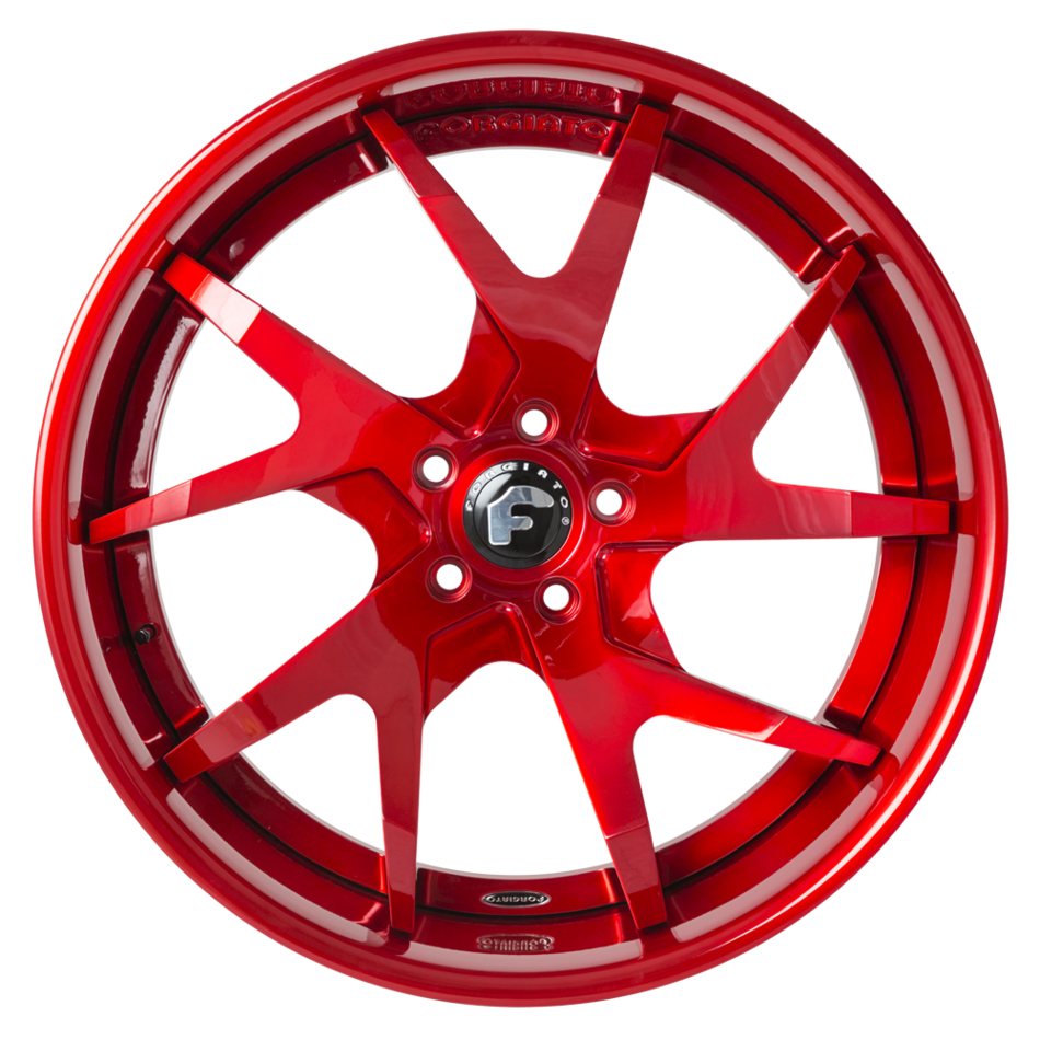 Forgiato F2.18-ECL Brushed Red Finish Wheels