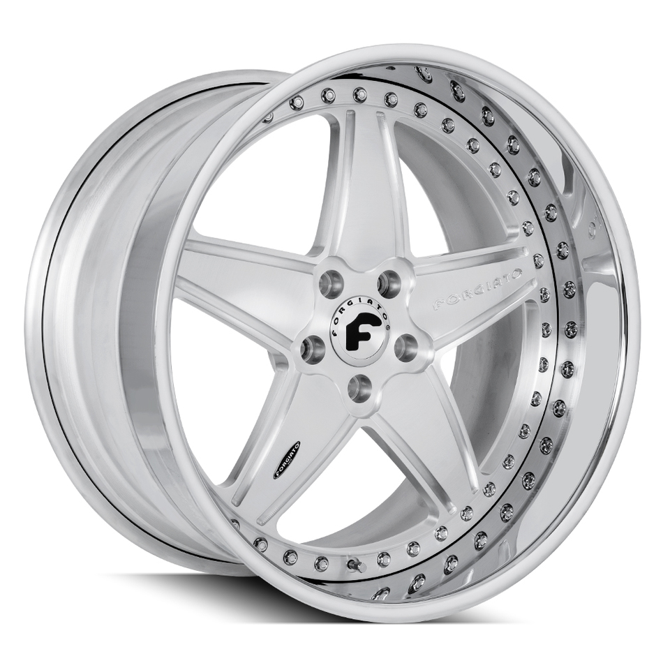 Forgiato FV1-D Brushed and Chrome Finish Wheels