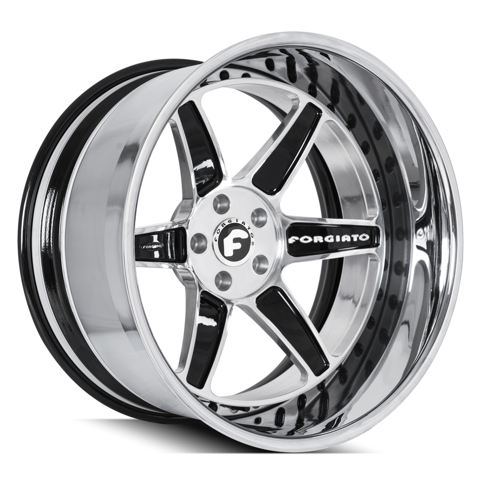 Forgiato FV2 Chrome and Black Finish Wheels
