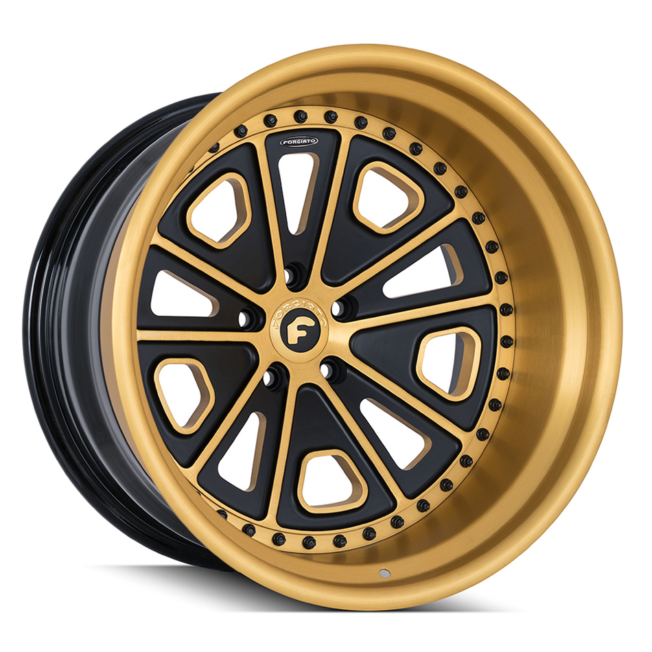 Forgiato FV3 Gold and Black Finish Wheels