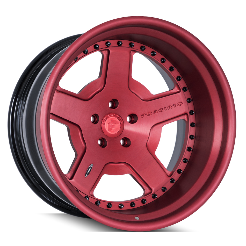 Forgiato FV5 Anodized Red Finish Wheels