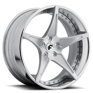 Forgiato Fata-ECL Satin Center with Chrome Lip Finish Wheels