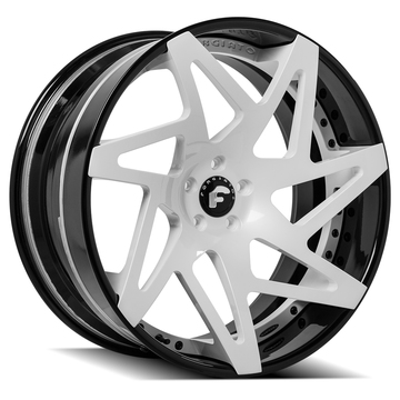 Forgiato Finestro-ECL White Center with Black Lip Finish Wheels